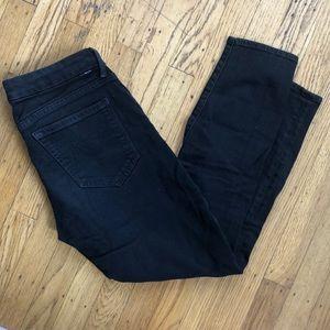 Mother black denim looker crop jeans (sz 27)